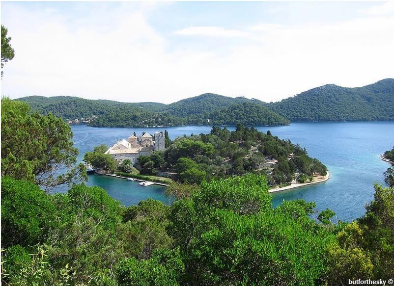Mljet veliko jezero ile sainte marie monastère franciscain
