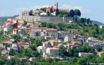 Motovun village perché en Istrie