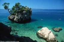 Brela en Dalmatie riviera de Makarska