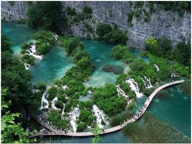 Canyon Donja jezera lacs de Plitvice