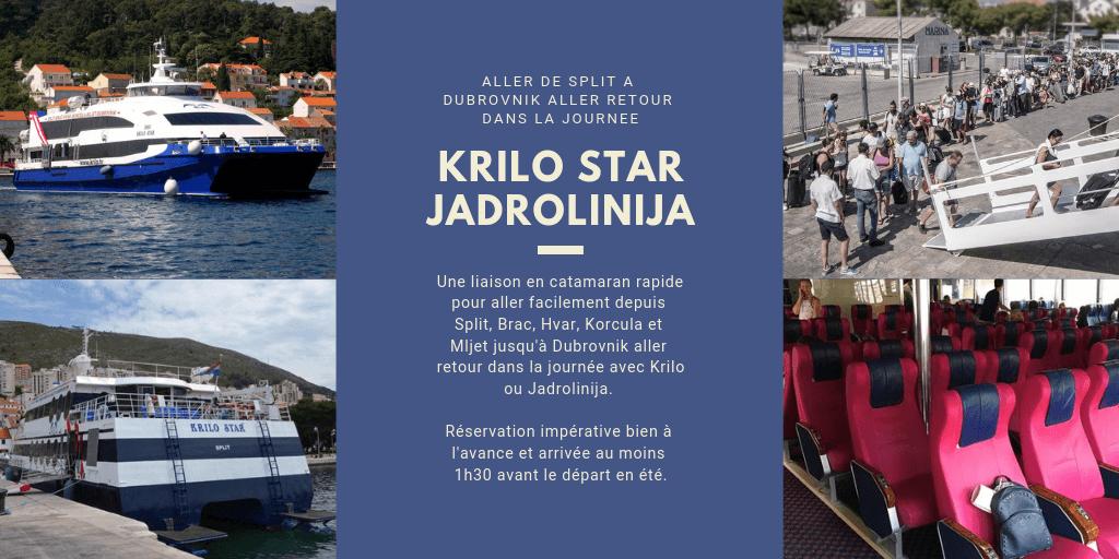 Catamaran pour aller de split à dubrovnik en évitant la frontière de bosnie à neum