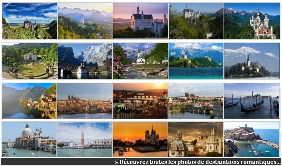 Destinations romantiques en europe