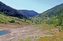 Paysage rural en Serbie