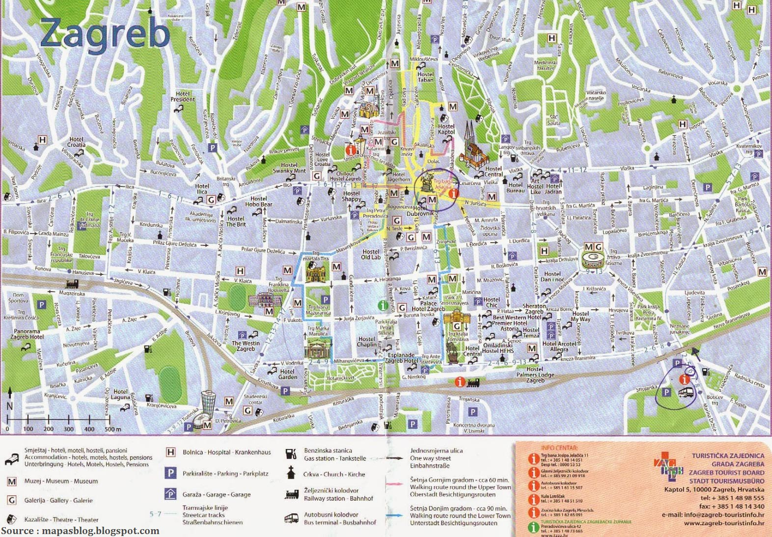 Plan Zagreb map
