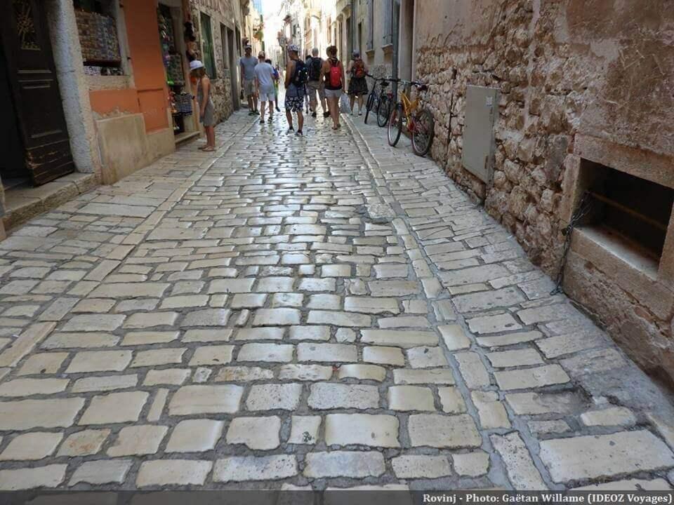 Rovinj rue pavée