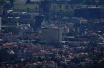 Vue de Zagreb depuis Medvedgrad