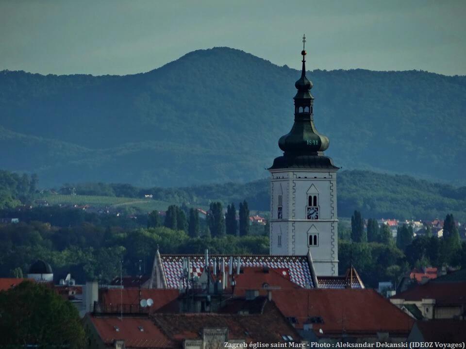 Zagreb clocher église saint Marc