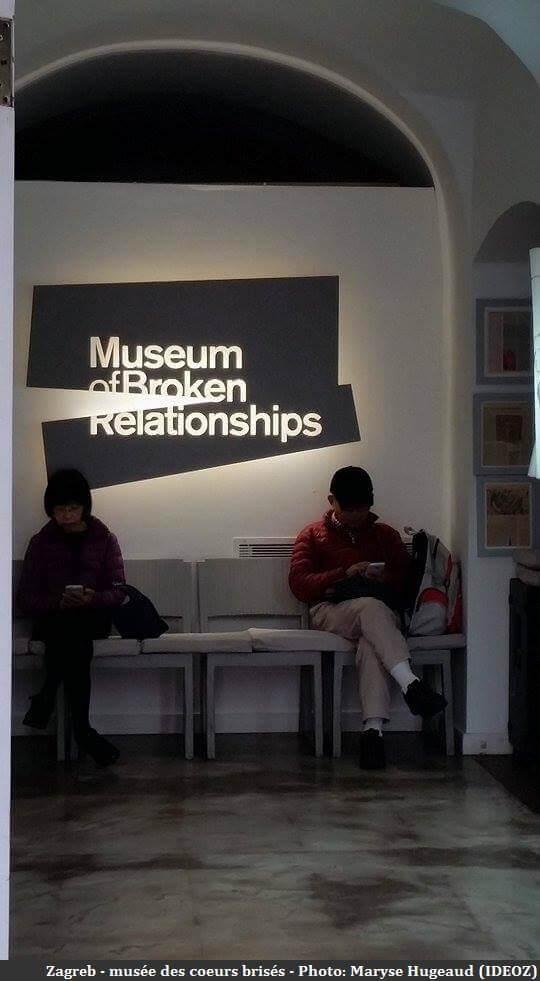 Zagreb entrée du musée des coeurs brisés