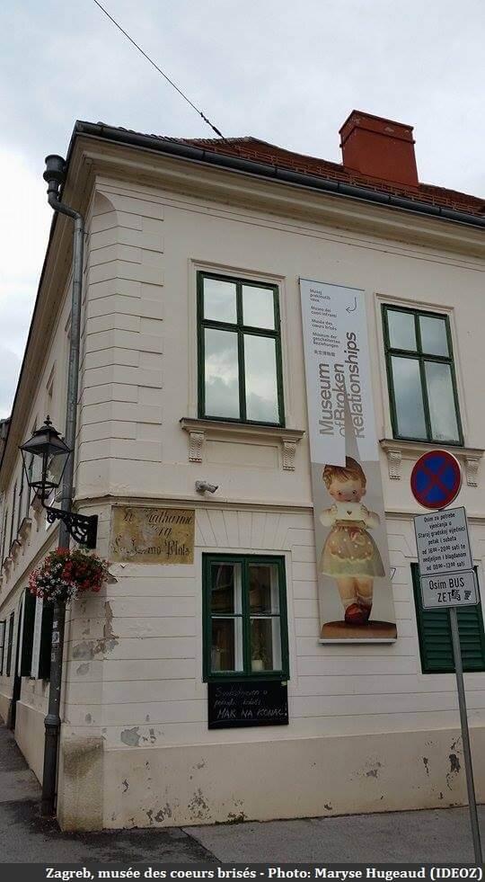 Zagreb musée des coeurs brisés batiment extérieur