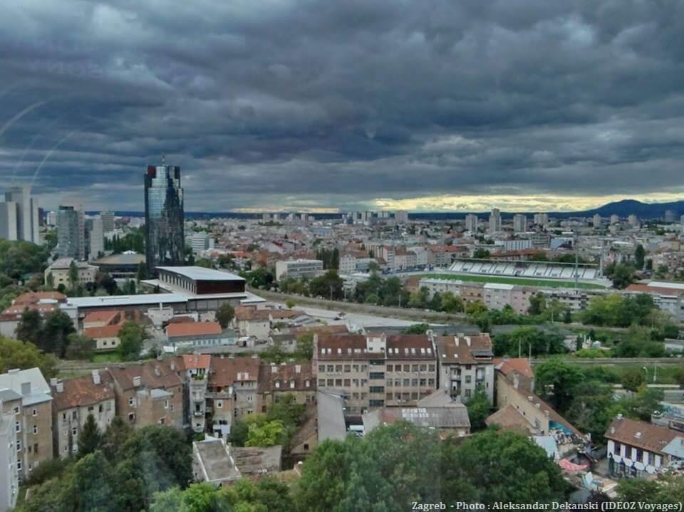 Zagreb sous un ciel tourmenté