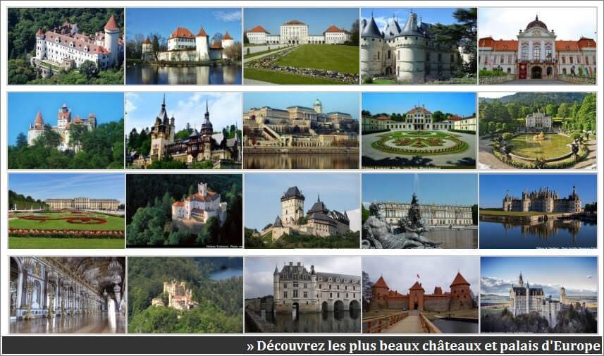 chateaux et palais en europe