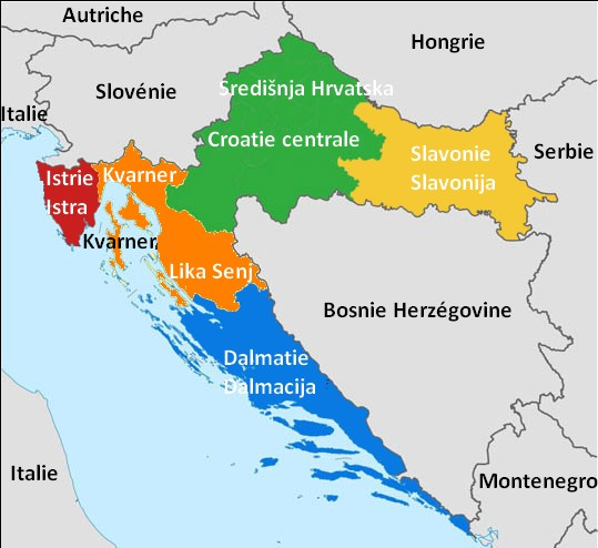 Carte Italie Incontournable.Carte De Croatie Regions Reliefs Sites A Ne Pas Manquer Routes
