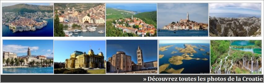 photos sur la croatie