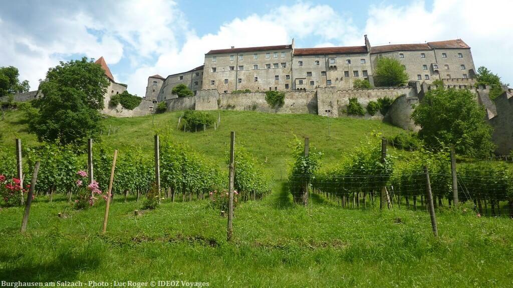 Burghausen am Salzach façade du chateau