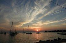 Coucher de soleil sur l'Adriatique en Istrie