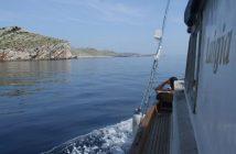 Dans les iles Kornati sur le bateau Luigia de Tvrtko