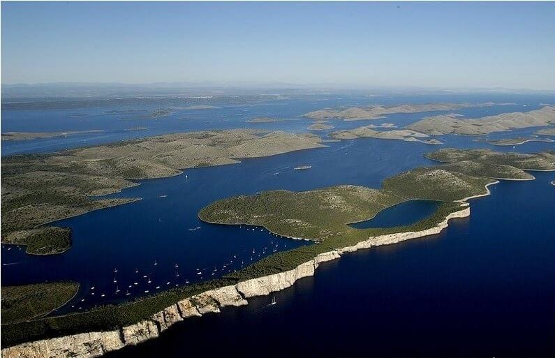 Dugi otok falaises et lacs du parc Telascica