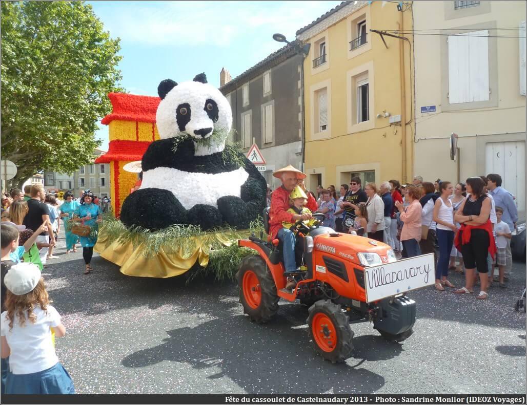 Fête du cassoulet de castelnaudary 2013 char Panda