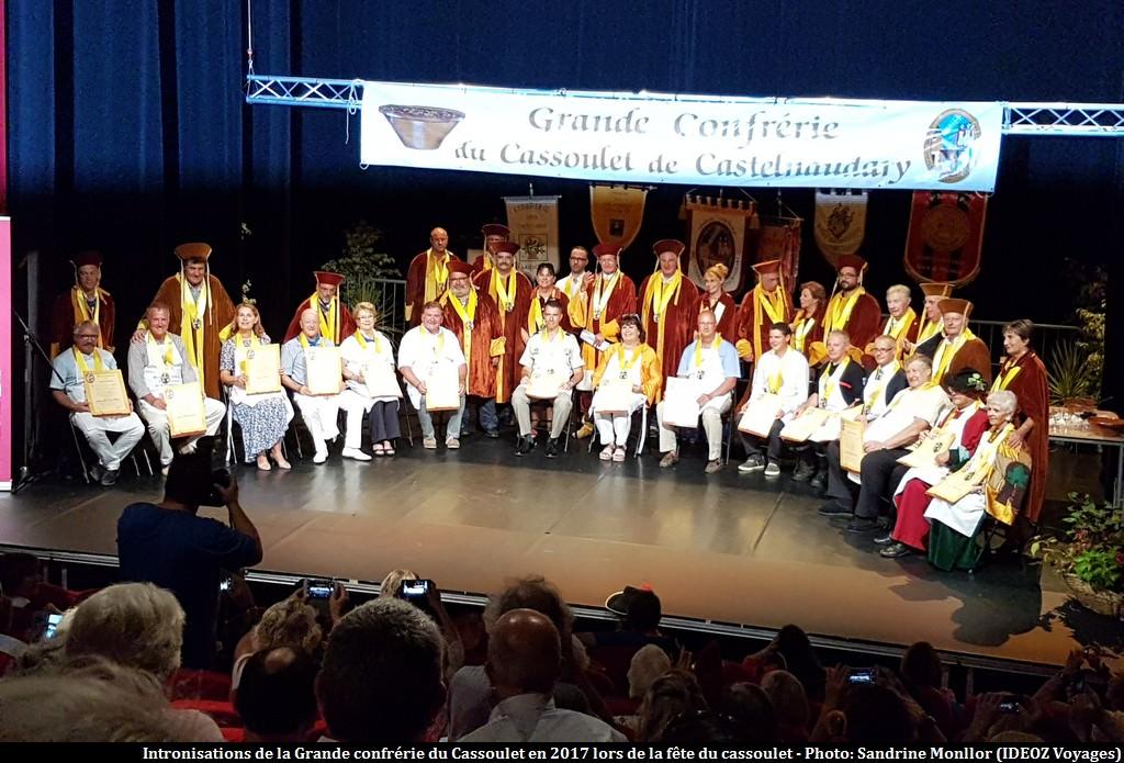 Intronisations confrérie du cassoulet fête du cassoulet de Castelnaudary 2017