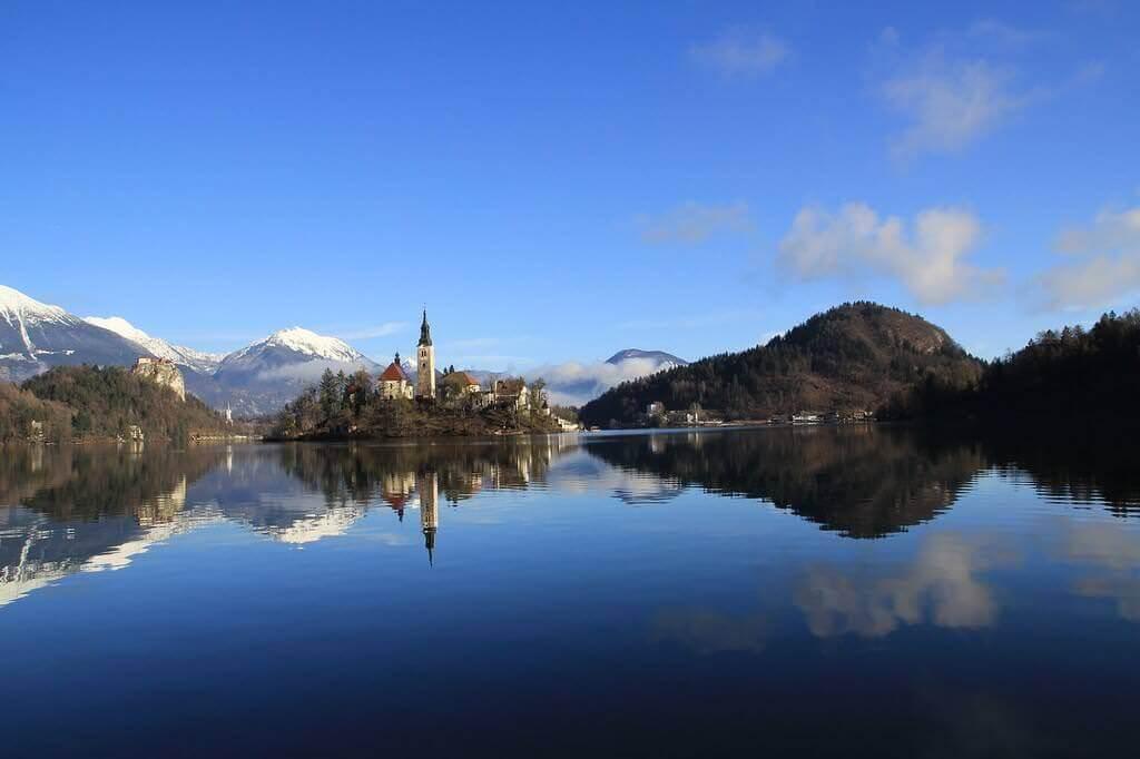 Lac de Bled dans les Alpes Juliennes