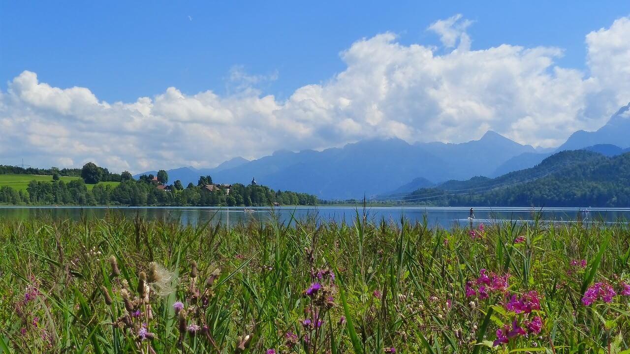 Lac weissensee au printemps