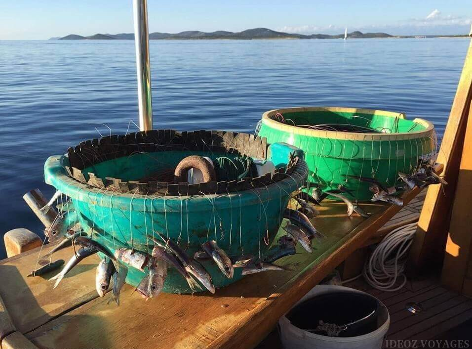 Technique de pêche dans les îles Kornati
