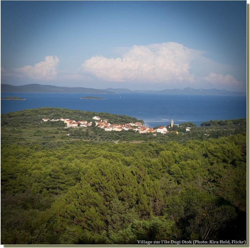 Village sur l'île Dugi Otok