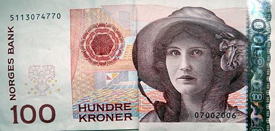 billet 100 couronnes norvégiennes