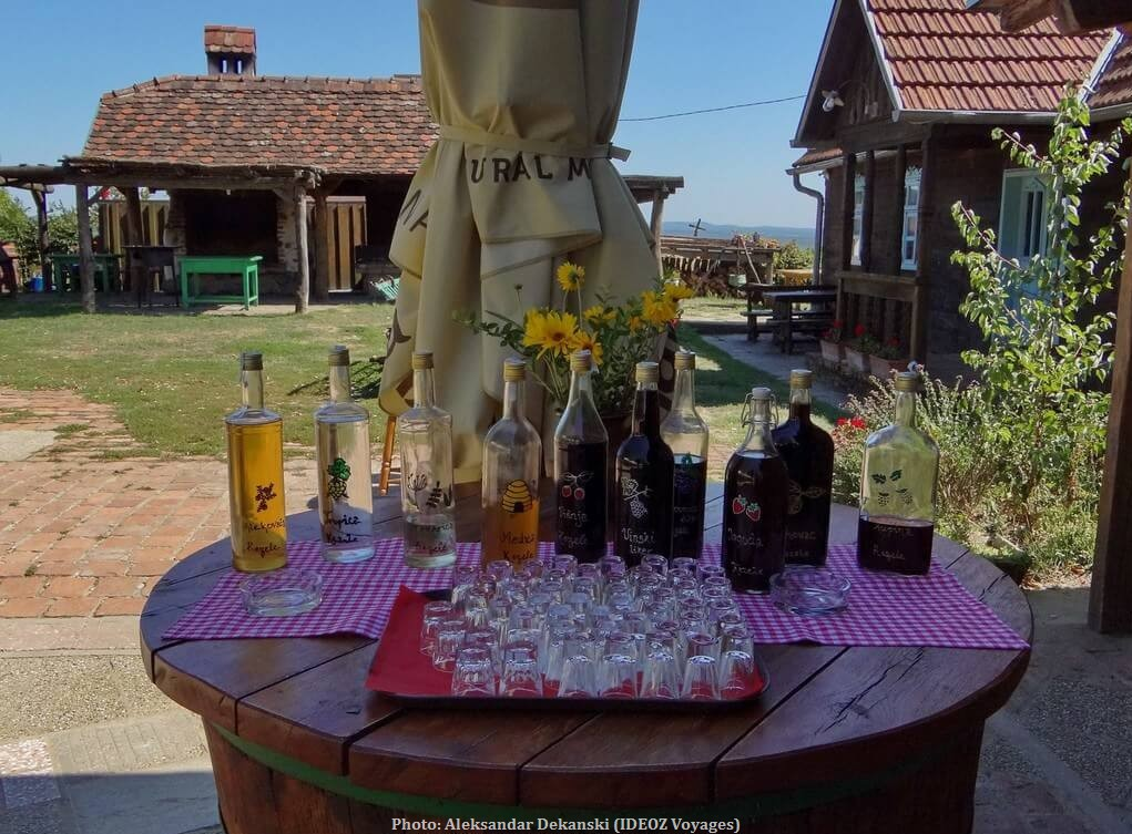 Agrotourisme Etno vino dégustation de liqueurs chez Janko Kezele