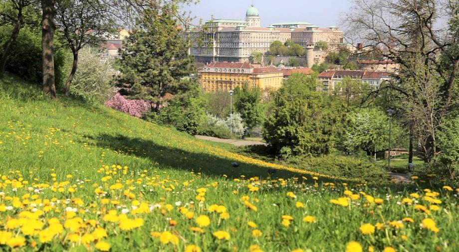 Buda colline Gellért jardin de philosophie