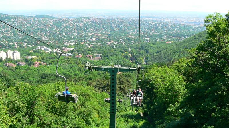 Collines de Budapest téléphérique