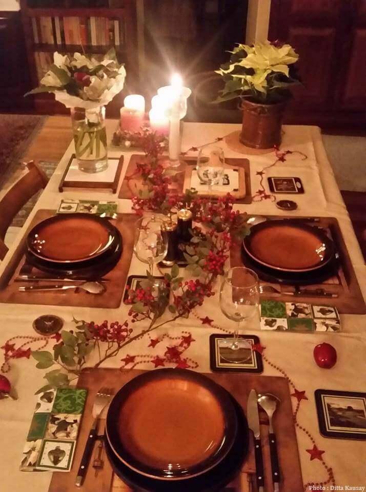 table du réveillon de Noël en Hongrie