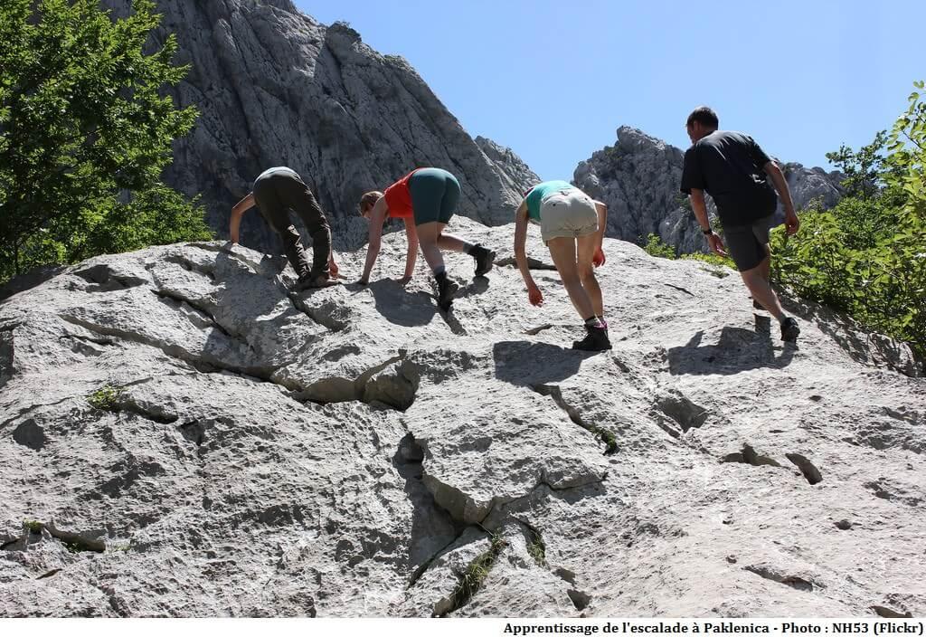 apprentissage de l'escalade dans le massif de Paklenica
