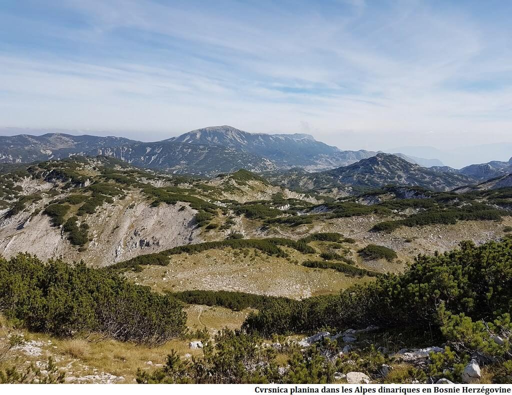 Cvrsnica Planina Alpes dinariques en Bosnie Herzégovine
