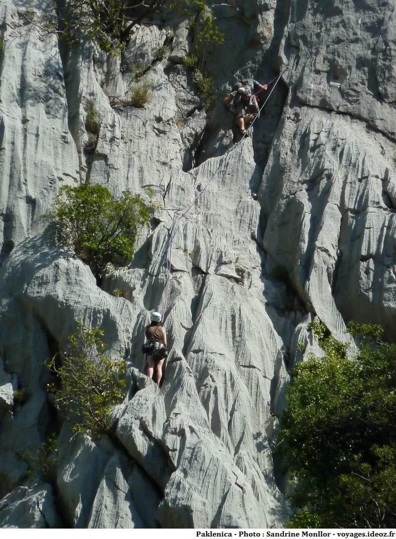 escalade dans le parc de Paklenica en Croatie