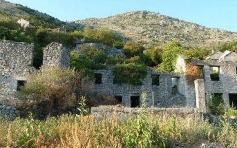 Maisons en ruines en ex Yougoslavie