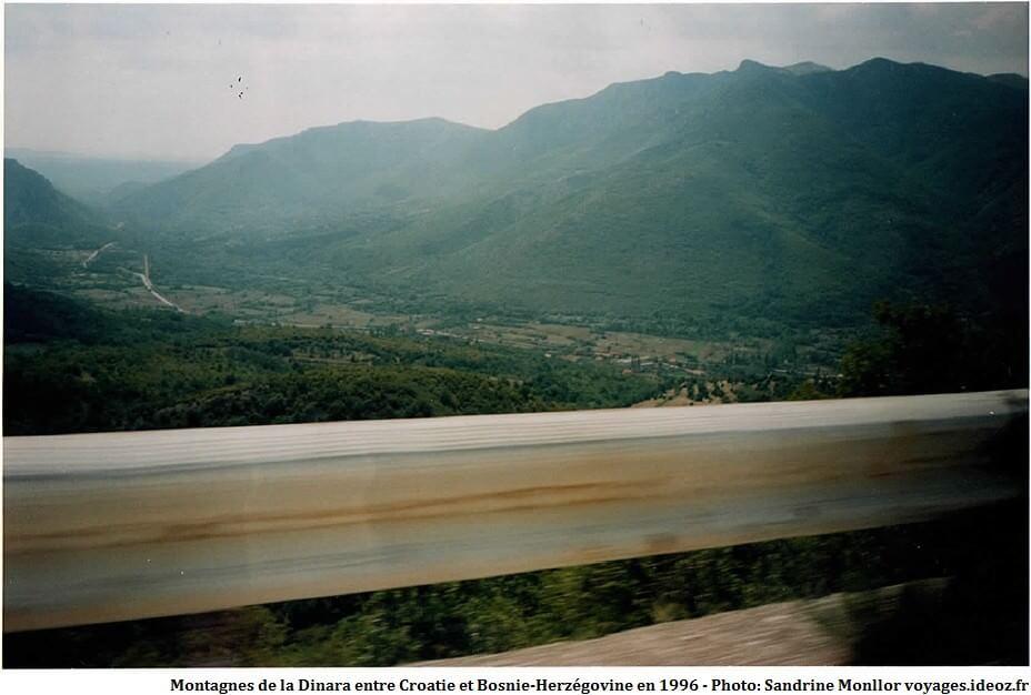 Montagnes de la Dinara entre Croatie et Bosnie Herzégovine en 1996