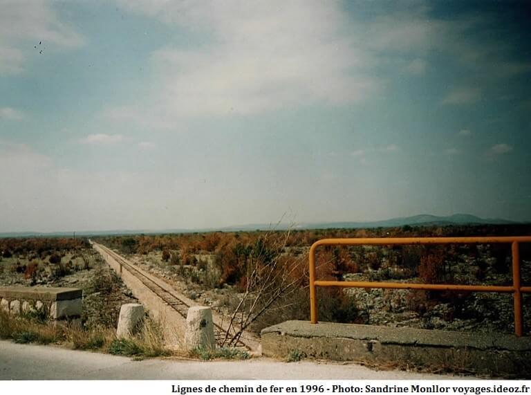 ligne de chemin de fer en Croatie en 1996