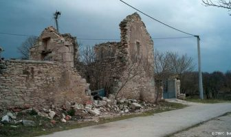 maison en ruines en Dalmatie du nord aux abords de Zadar