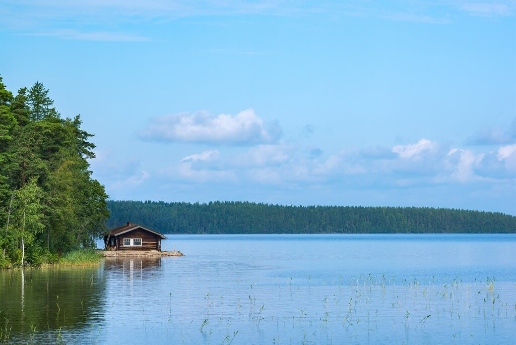 Finlande chalet dans la région des lacs