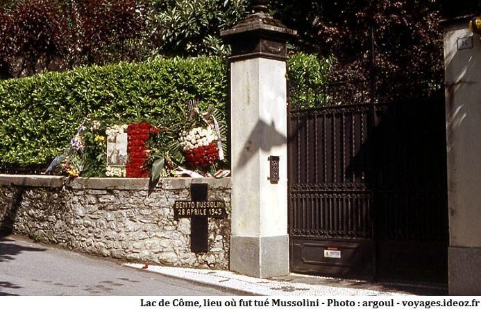 Lieu où fut tué Benito Mussolini