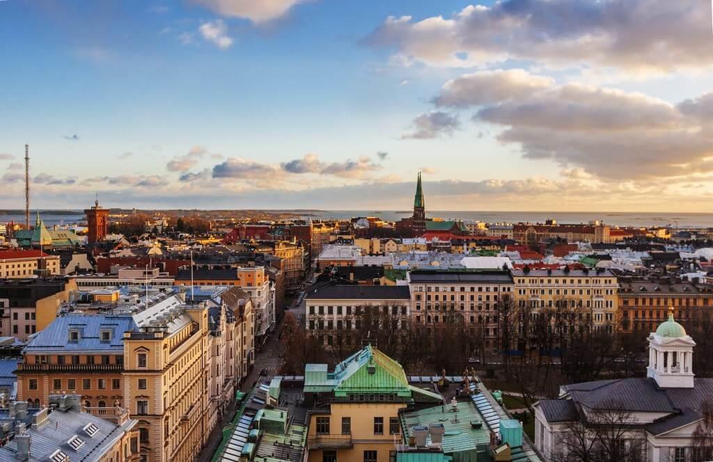 Panorama Helsinki capitale de la Finlande