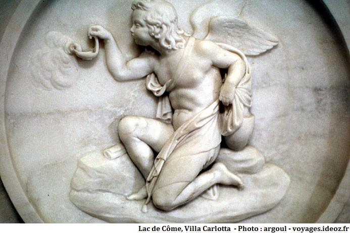 Représentation d'un ange à la Villa Carlotta