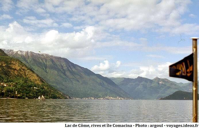 Rives du lac de Côme et île Comacina