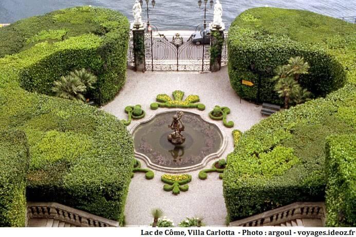 Villa Carlotta fontaine et jardin