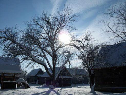 Etno selo Stara Lonja en hiver
