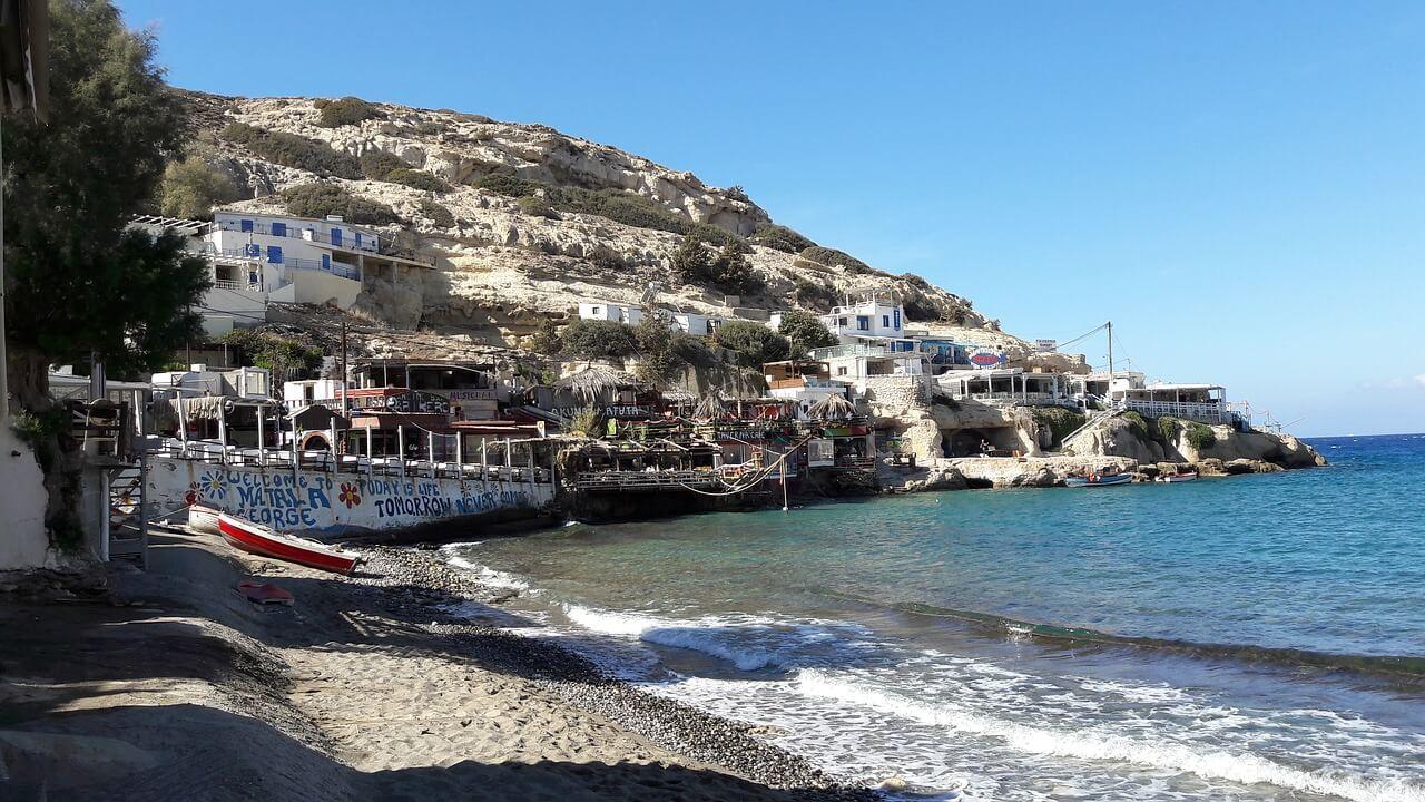 Matala village maritime crétois