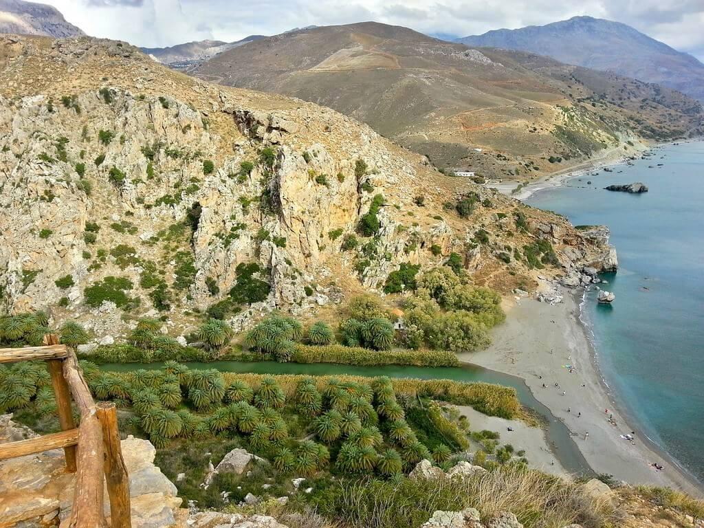 Palmeraie de Vai en Crète