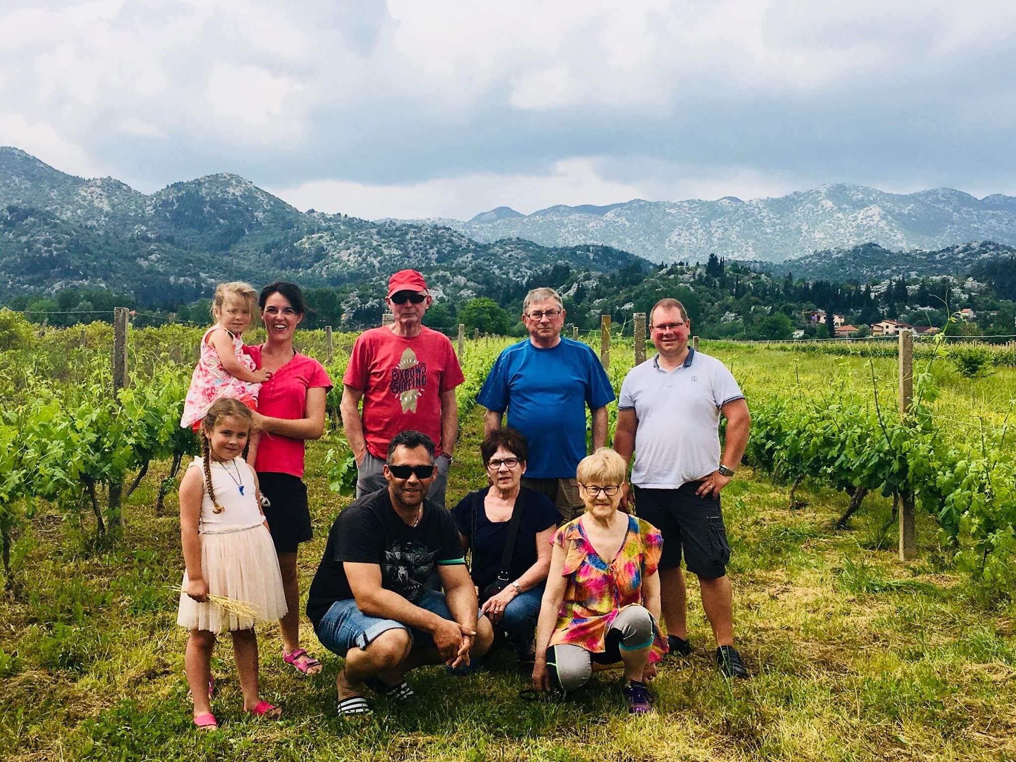 Vacanciers à la villa Jozetine chez mélanie une bretonne expatriée en Croatie