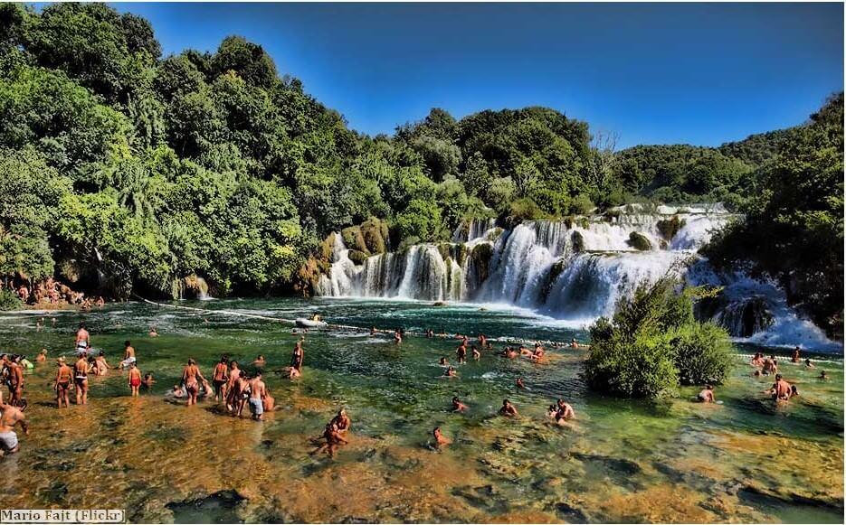 baignade dans le parc national Krka